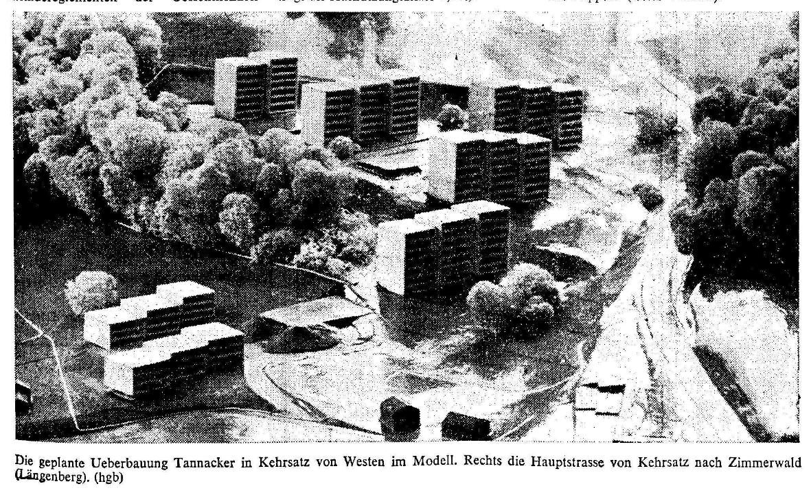 1969.02.16 - Der Bund - Grossüberbauung Tannacker - Modell