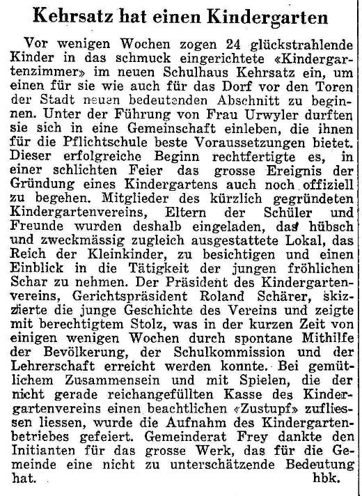 1964.05.21 - Der Bund - Kindergarten