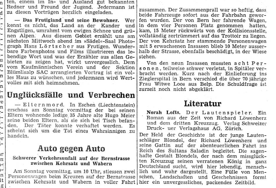 1952.10.27 - Oberländer Tagblatt - Autounfall