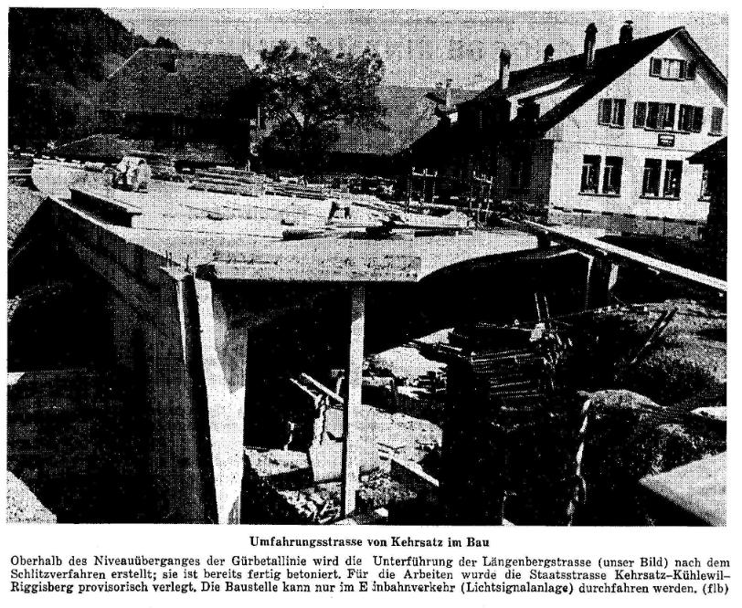 1968.06.23 - Der Bund - Bau Umfahrungsstrasse