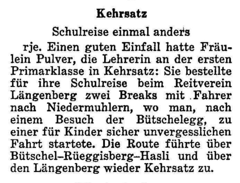 1967.09.12 - Der Bund - Schulreise