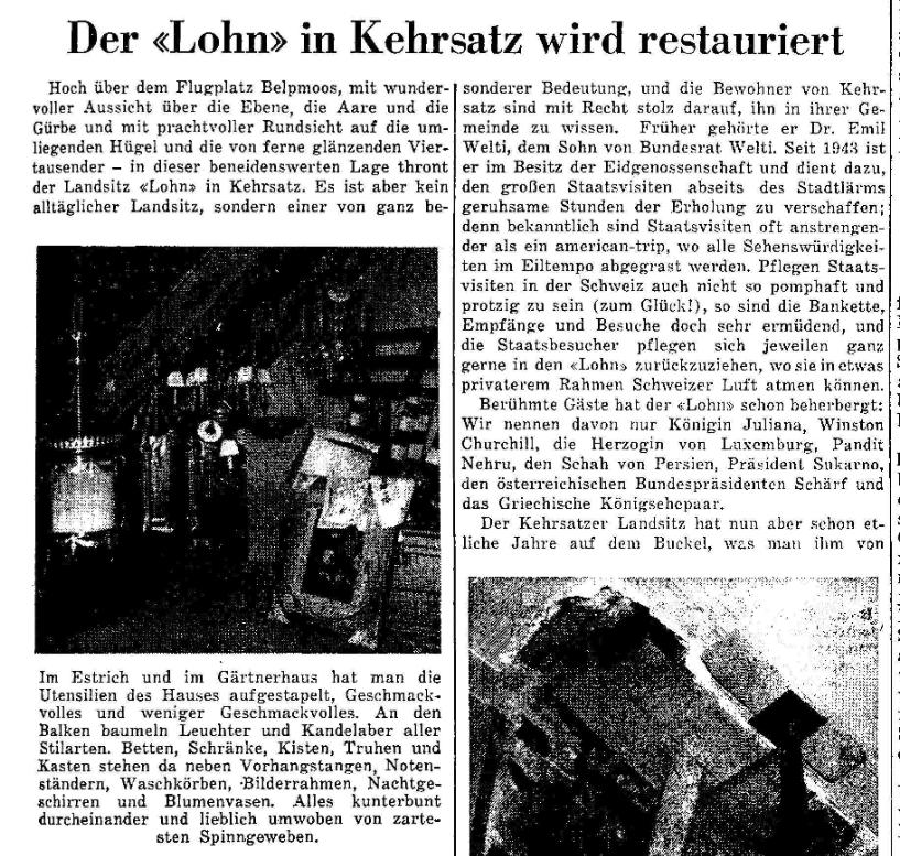 1959.03.25 - Der Bund - Sanierung Lohn