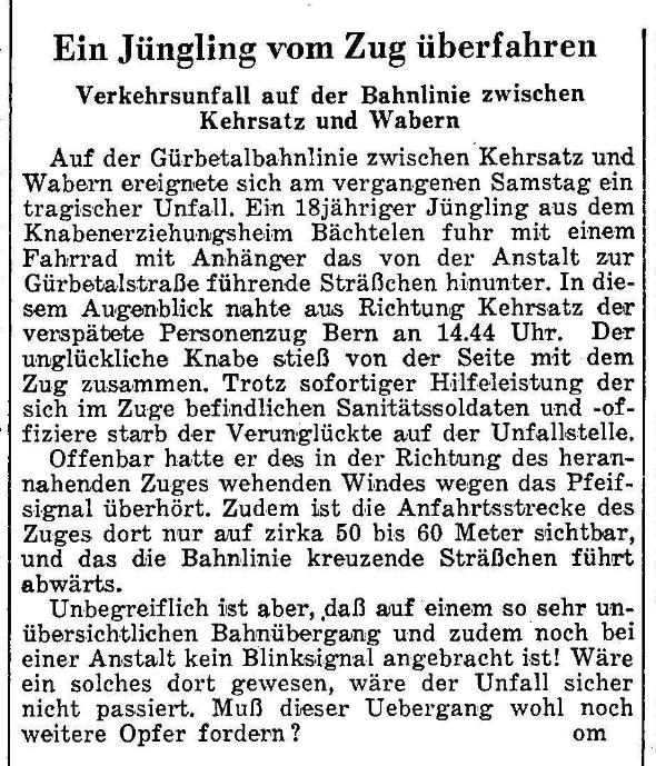 1956.10.08 - Der Bund - Unfall