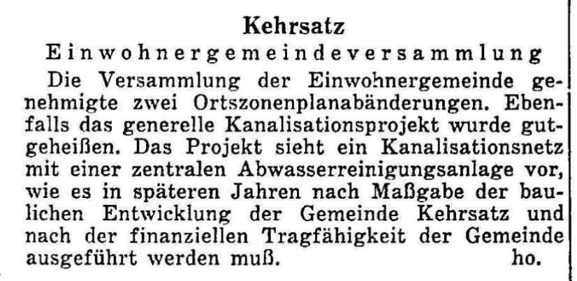 1958.10.05 - Der Bund - Gemeindeversammlung
