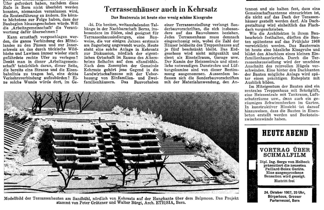 1967.10.24 - Der Bund - Terrassenhäuser