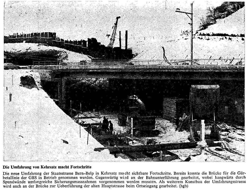 1969.02.06 - Der Bund - Bau Umfahrungsstrasse