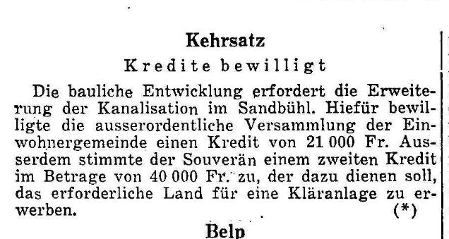 1960.10.20 - Der Bund - Gemeindeversammlung