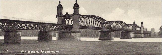 Rheinbrücke Winterdsorf bei Fertigstellung 1895; © Kreisarchib Rastatt