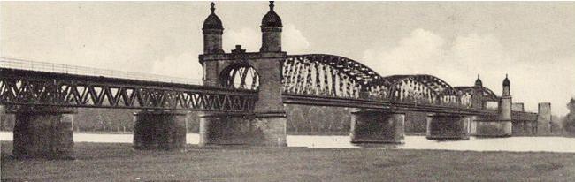 Eisenbahnbrücke Wintersdorf, 1895; © Kreisarchiv Rastatt