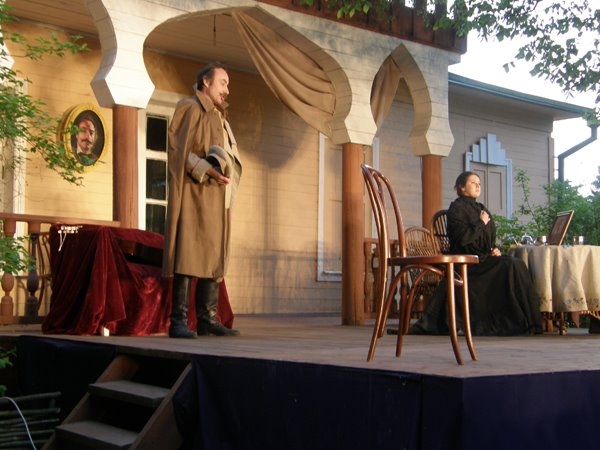 "Espectáculo ""El Oso"", Festival Internacional de Chéjov en Melejovo (Rusia)"