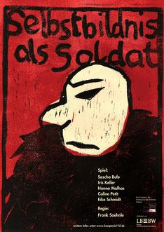 Plakat Selbstbildnis als Soldat