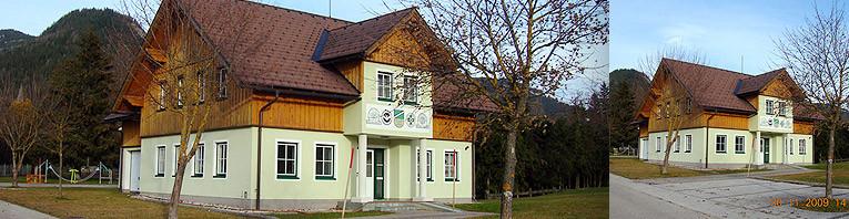 Errichtung des Vereinsheims