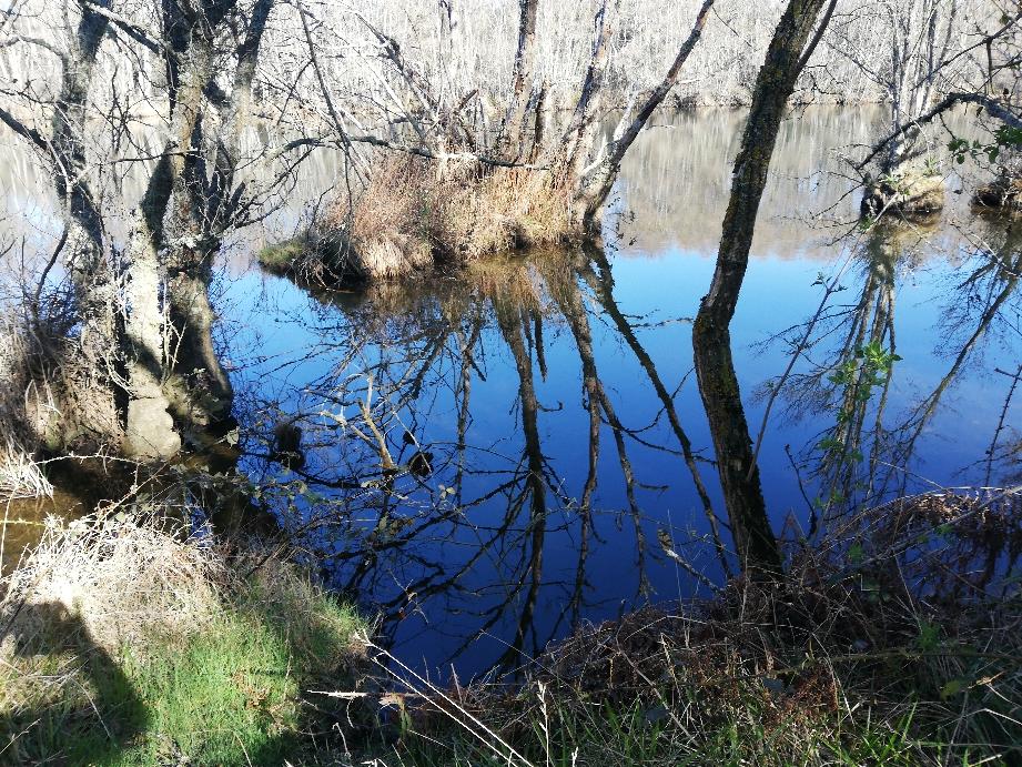 Entlang des Flusses zum Staudamm
