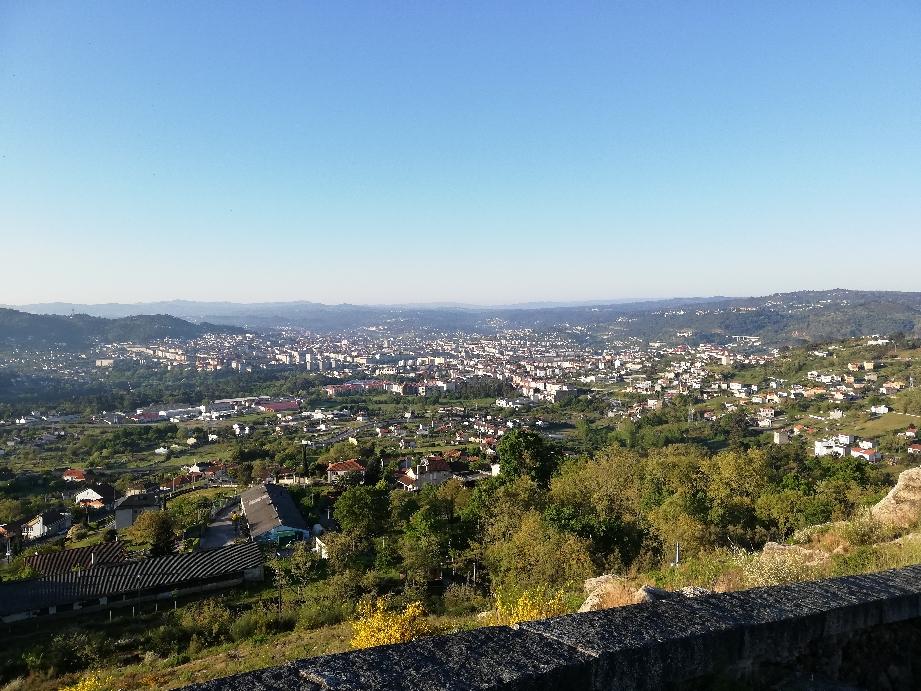 Ourense    Blick zurück nach steilen Anstieg