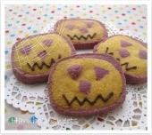 南瓜と紫芋のクッキー