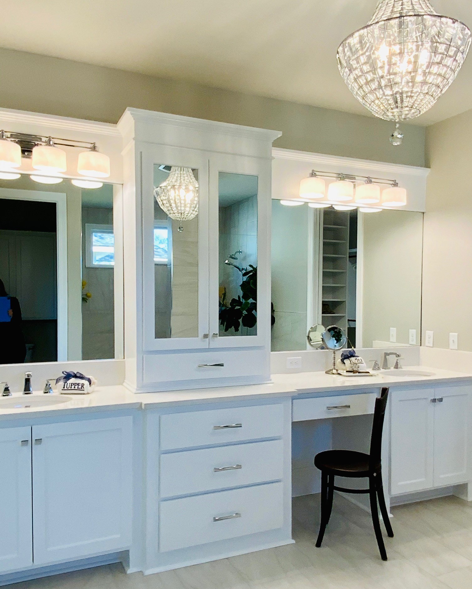 larger his and her vanity