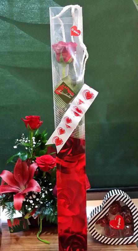 Una rosa preparada .