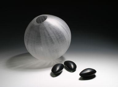 Glas Objekt Samenkapsel ca. 24 cm