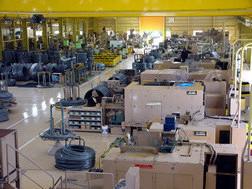 中国精螺の工場内