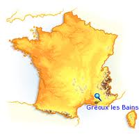 Localisation Gréoux les bains