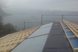 Solarthermieanlage von bern.solar in Gunten am Thunersee
