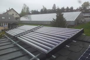 Röhrenkollektorenanlage von bern.solar in Riggisberg