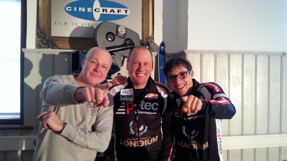 Filmemacher Christian Giesser mit Wolfgang Dabernig und Michael Kurz. DABERNIG/KURZ ©2015
