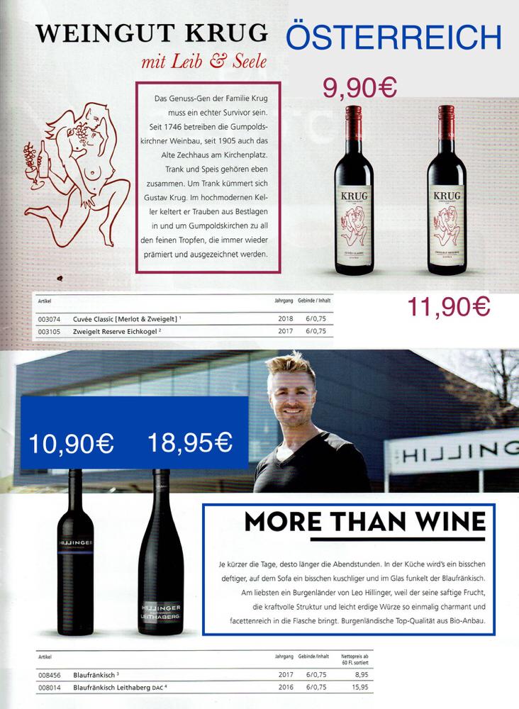Österreich-Weingut Krug & Weingut Hillinger