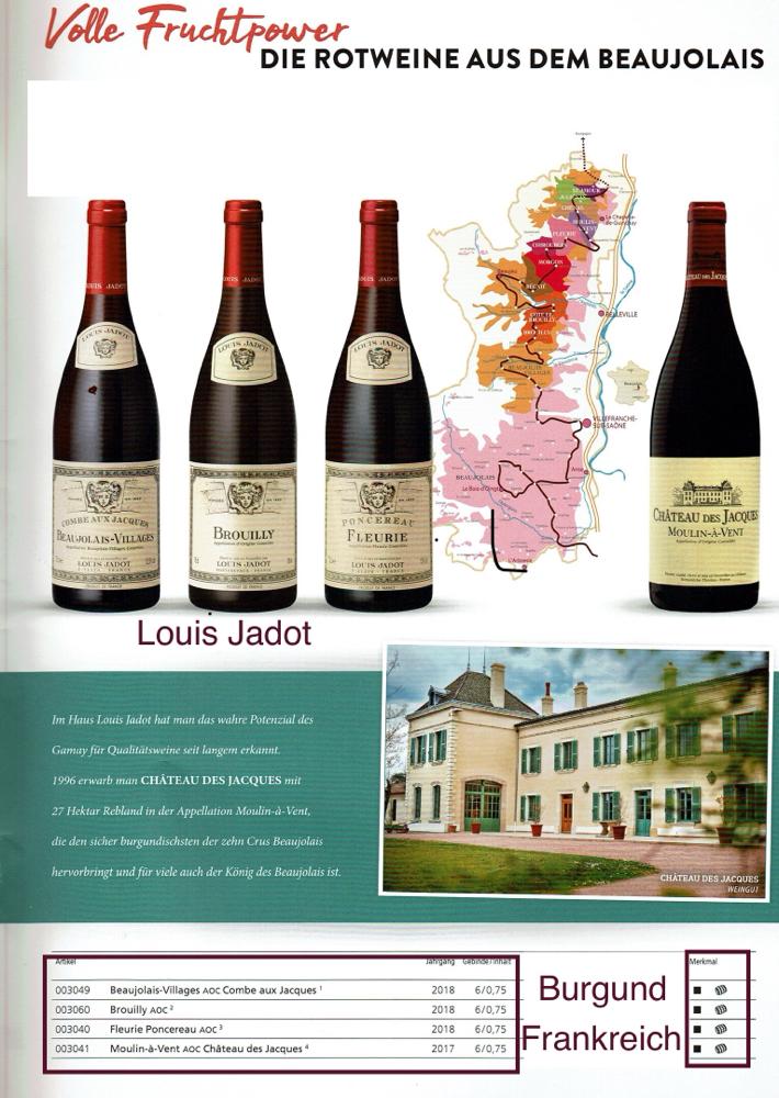 Louis Jadot, Burgund- Beaujolais