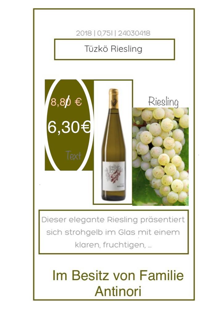 Riesling - Tüzko/Antinori