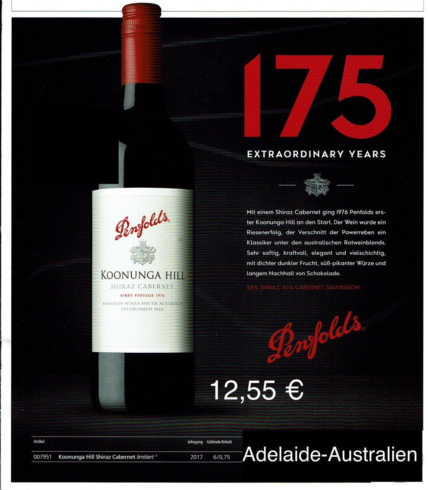 Koonunga Hill- Penfolds