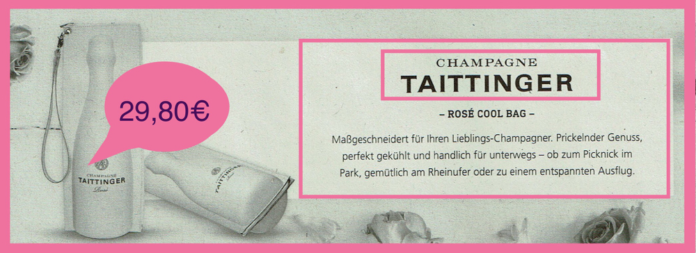 COOL BAG- CHAMPAGNE TAITTINGER