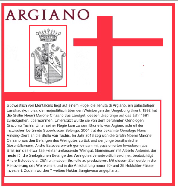 Argiano : Top Brunello Erzeuger in Montalcino