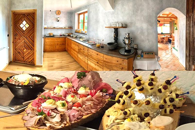 Frühstück im Berggasthof Hummelei in Oberaudorf