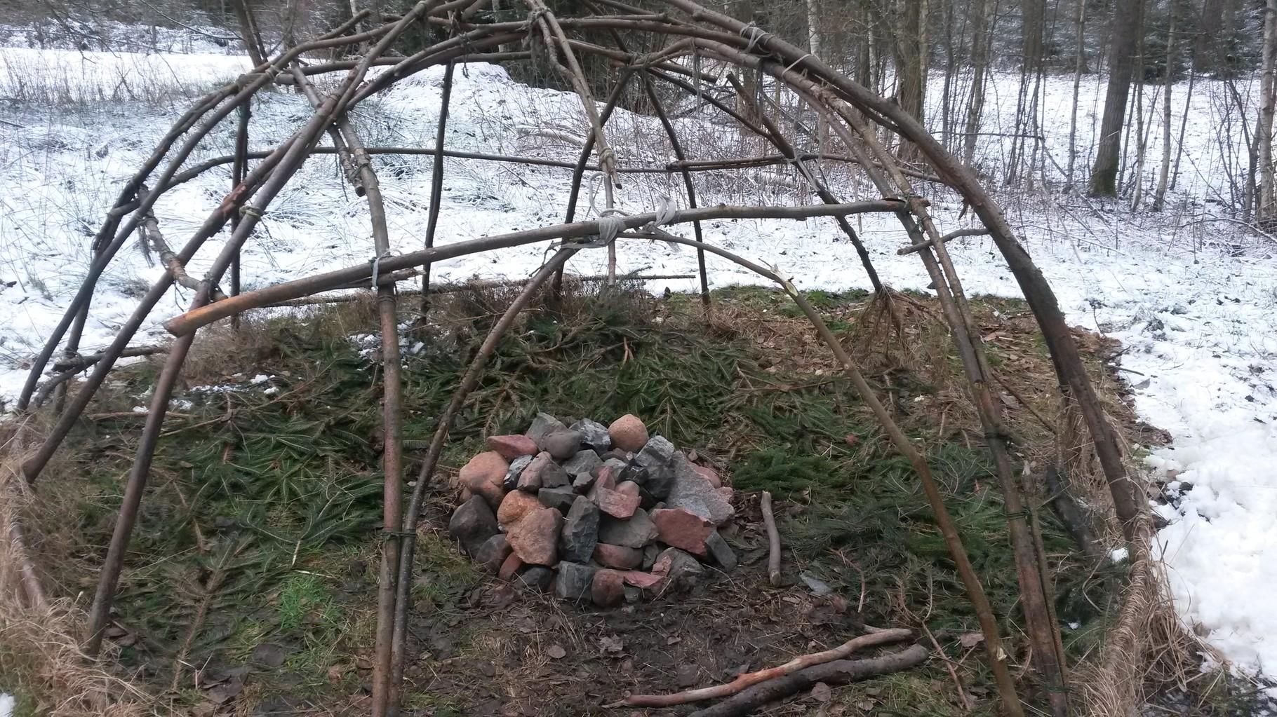 Vorbereitung zur Schwitzhütte 2016