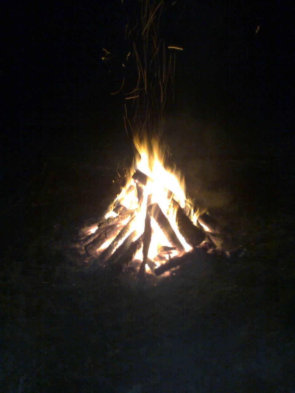 Lagerfeuerromantik - einmal anders ...