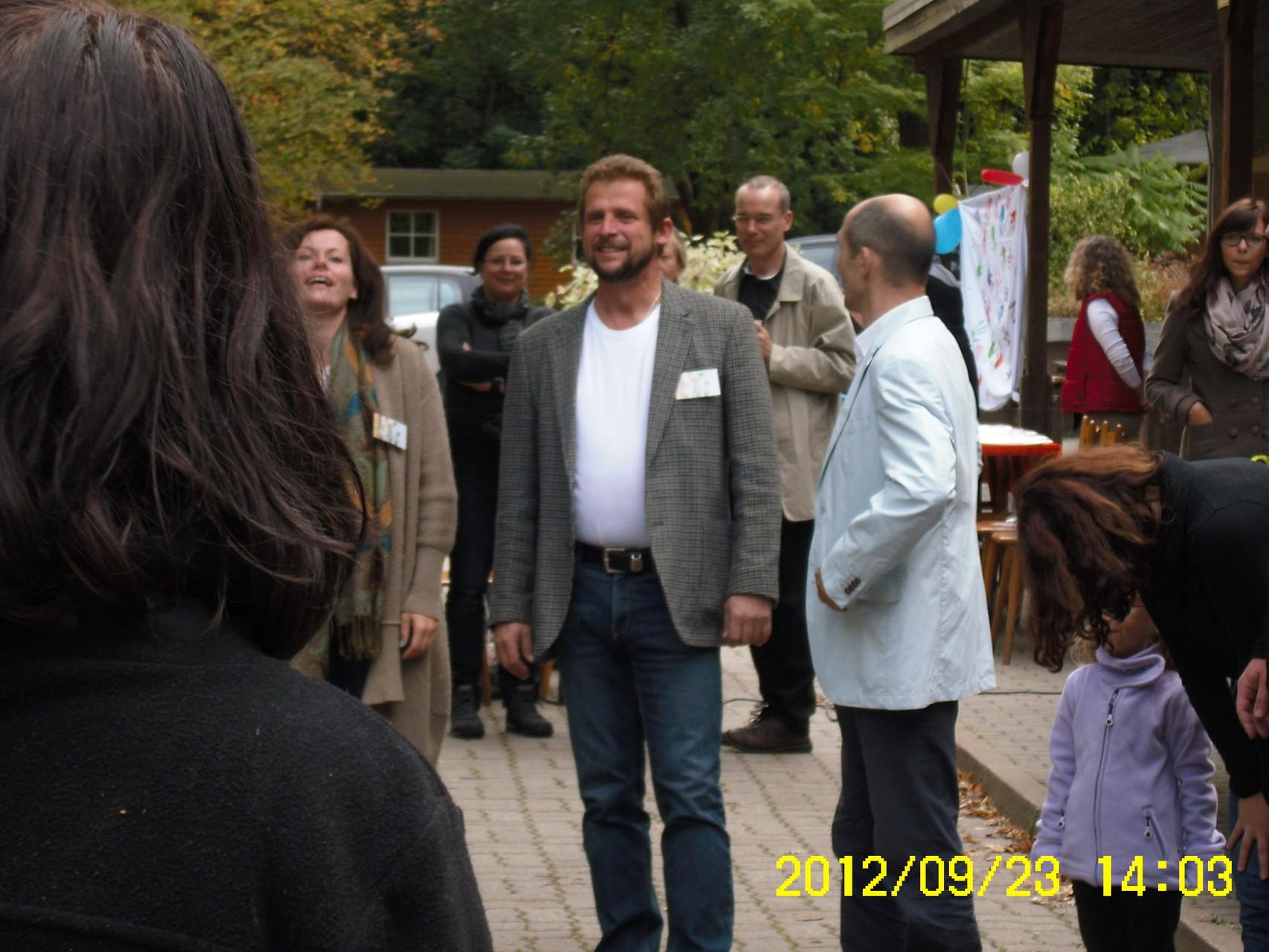 Steffen Thomas (Herausgeber) im  Gespräch mit Ralf Lemke (Moderation bei der Präsentationsveranstaltung)
