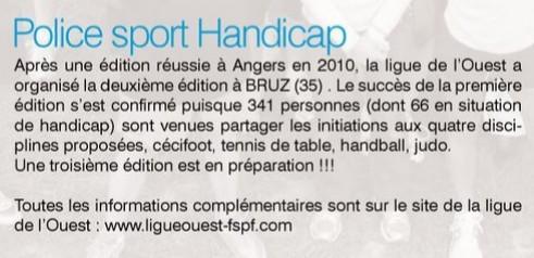 """Article extrait du magazine de la FSPN """"France Sport Police"""" numéro 84"""