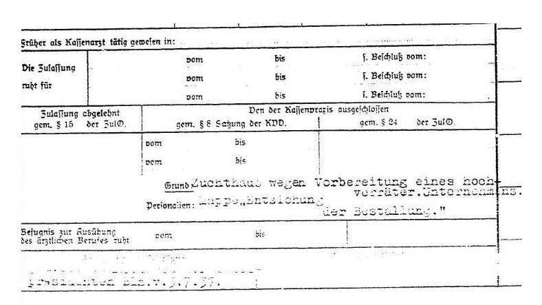 5. Edith Jacobssohn, Karteikarte, Gefängnis Jauer