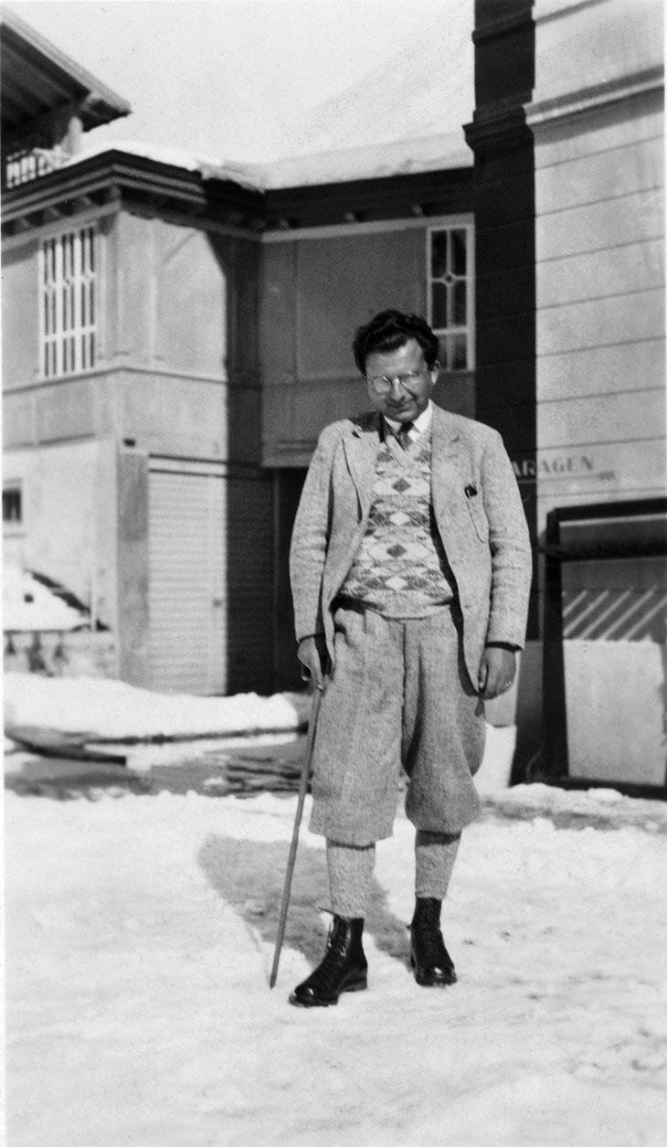 1938 auf der Schatzalp in Davos, zur TBC-Behandlung