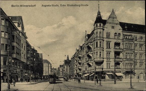 A. Rohrs Adresse. Augustastr. Ecke Hindenburgstr. 80, bei Frl. E. Rose (linkes Eckhaus)