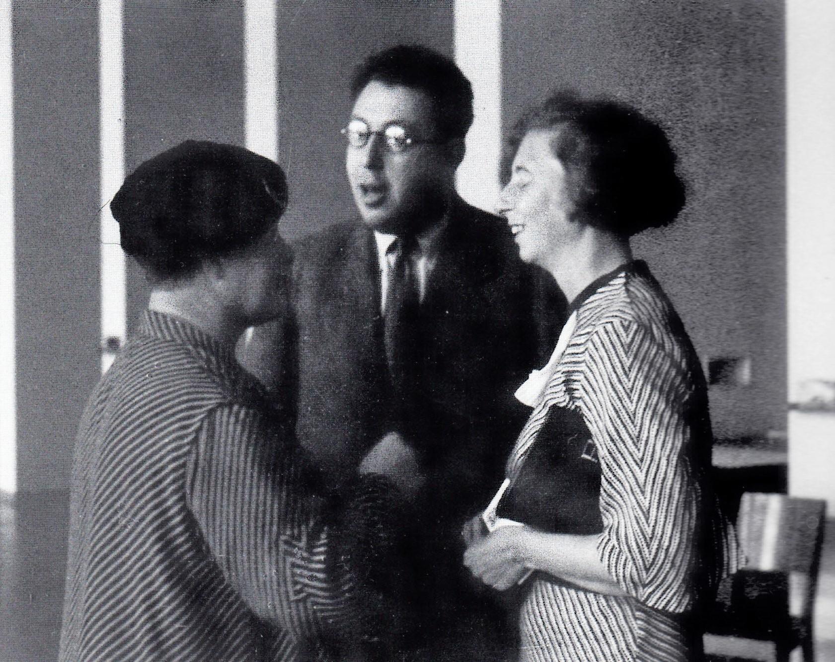 Otto Fenichel mit Francis Deri und Annie Reich, 1934