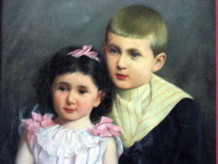 1. René Spitz mit seiner Schwester Daisy (Brody)