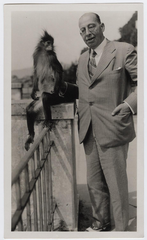 Sachs mit dem Affen