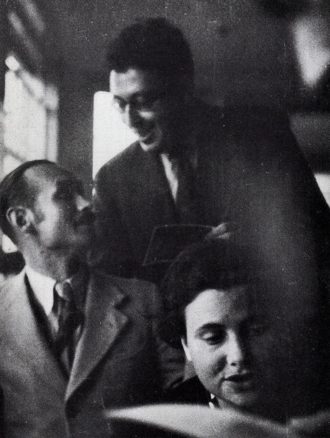 Otto Fenichel, Werner Kemper und Elisabeth Gerö-Heymann (?), 1934