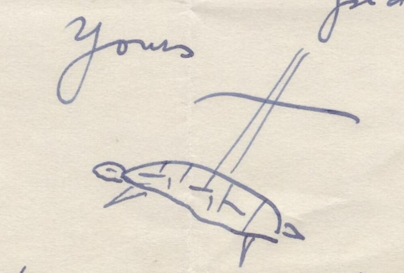 """Sachs' Unterschrift """"turtle"""""""