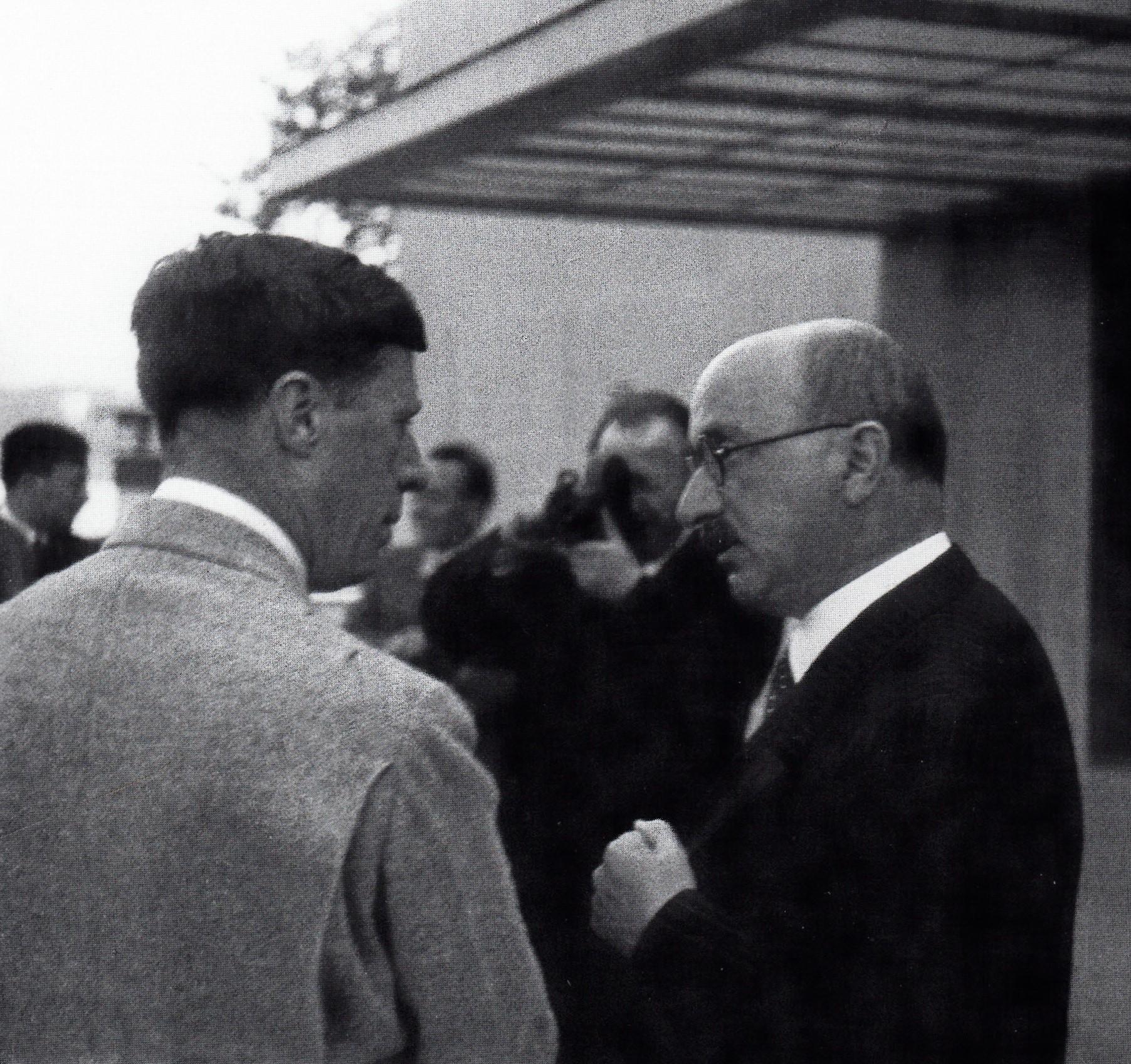 Max Eitingon und Thomas French, IPV-Kongress 1934, Luzern