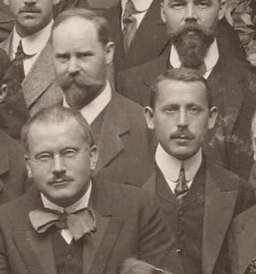 Weimarer Kongress 1911 mit C.G.Jung, A. Stegmann und Karl Abraham