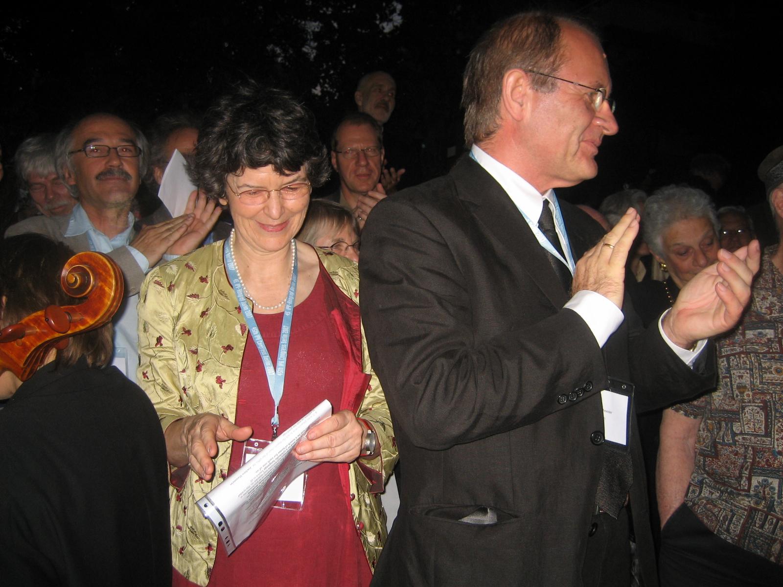 Dr. Regine Lockot, Dr. Thilo Eith (dahinter) und Dr. Gerhard Schneider