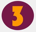 Bild: Ziffer 3 in lila Kreis